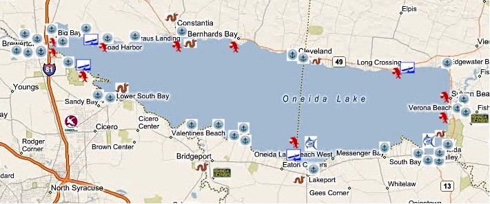Oneida Lake Fishing and Boating and Marinas
